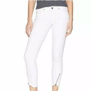 PAIGE Women's Verdugo Crop W/Angled Zip + Raw Hem